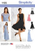 1195 Simplicity Pattern: Misses' & Miss Petite Special Occasion Dress